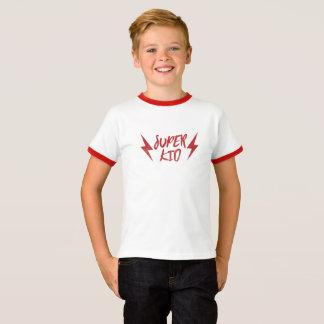 Superkinderblitz-Bolzen-Rock-and-Rollrotes Super T-Shirt