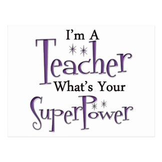 Superlehrer Postkarte