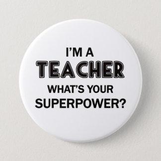 Superlehrer Runder Button 7,6 Cm