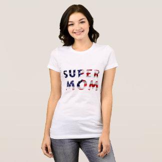 Supermamma und die amerikanische Flagge T-Shirt
