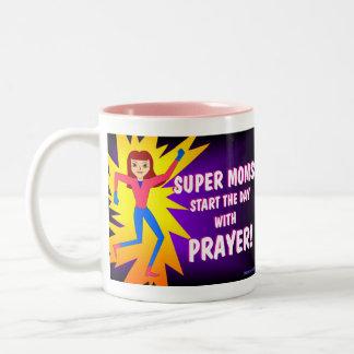 Supermammen - Jesus ist die Antwort-Kaffee-Tasse Zweifarbige Tasse