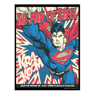 Supermann 12 postkarte
