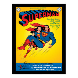 Supermann #57 postkarte
