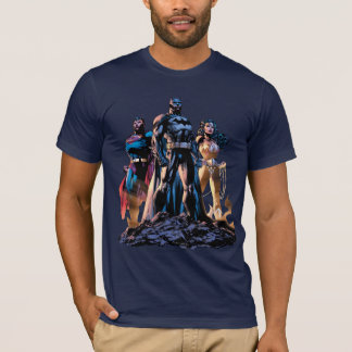 Supermann, Batman u. Wunder-Frauen-Dreiheit T-Shirt