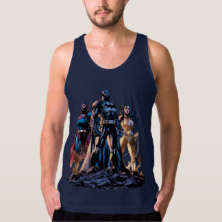 Supermann, Batman u. Wunder-Frauen-Dreiheit Tank Top