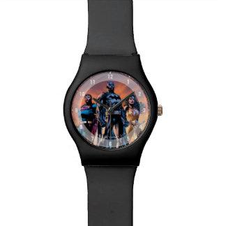 Supermann, Batman u. Wunder-Frauen-Dreiheit Uhr