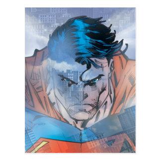 Supermann - Blau Postkarte