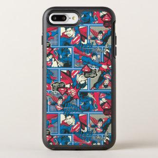 Supermann-Comic-Muster OtterBox Symmetry iPhone 7 Plus Hülle