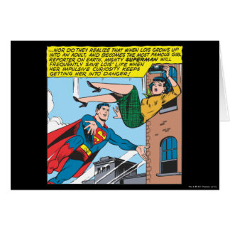 Supermann-Comic-Platte - Retten von Lois Karte