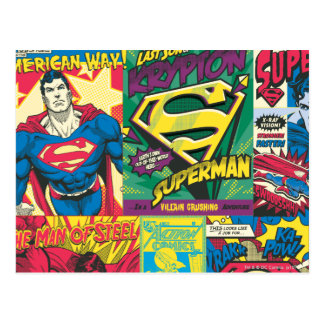 Supermann-Comic-Platten Postkarte