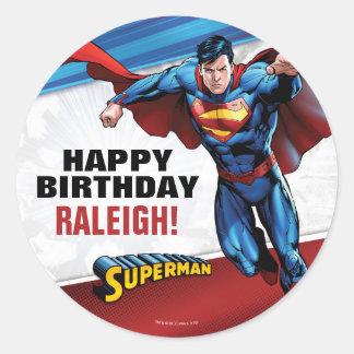 Supermann DC-Comic-| - Geburtstag Runder Aufkleber