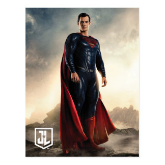 Supermann der Gerechtigkeits-Liga-| auf Postkarte