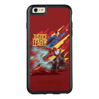 Supermann der Gerechtigkeits-Liga-|, Blitz u. OtterBox iPhone 6/6s Plus Hülle