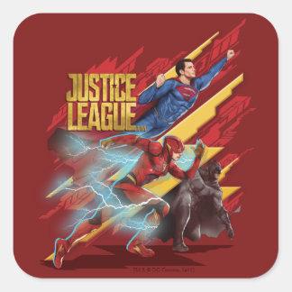 Supermann der Gerechtigkeits-Liga-|, Blitz u. Quadratischer Aufkleber