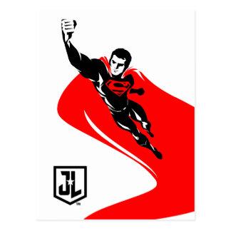 Supermann der Gerechtigkeits-Liga-|, der Noir Postkarte