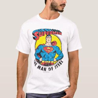 Supermann der Mann des Stahls T-Shirt