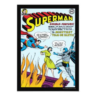 Supermann (Doppelt-Eigenschaft mit Batman) 12,7 X 17,8 Cm Einladungskarte