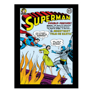 Supermann (Doppelt-Eigenschaft mit Batman) Postkarte