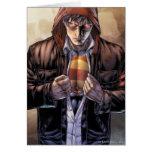 Supermann-Erdabdeckung - Farbe Grußkarten