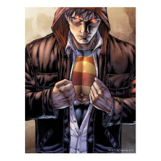 Supermann-Erdabdeckung - Farbe Postkarte