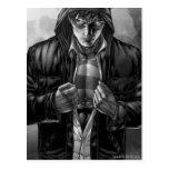 Supermann-Erdabdeckung - Schwarzweiss Postkarten