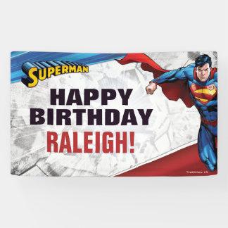 Supermann-Geburtstag Banner