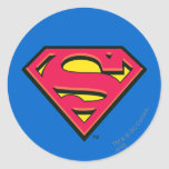 Supermann-Klassiker-Logo Runder Aufkleber