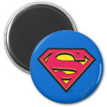 Supermann-Klassiker-Logo Runder Magnet 5,1 Cm