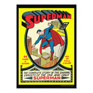 Supermann (komplette Geschichte) 12,7 X 17,8 Cm Einladungskarte