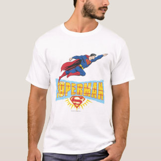 Supermann-Logo und Flug T-Shirt