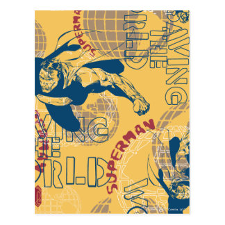 Supermann mit Kugeln Postkarte