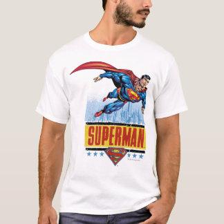 Supermann mit Stadtbild T-Shirt