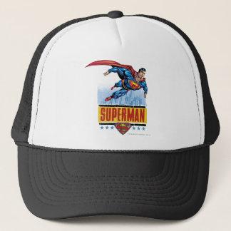 Supermann mit Stadtbild Truckerkappe