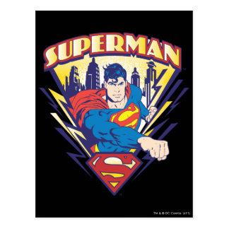 Supermann mit Strom Postkarte