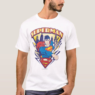 Supermann mit Strom T-Shirt