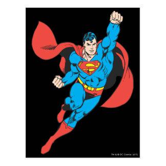 Supermann-rechte Faust angehoben Postkarte