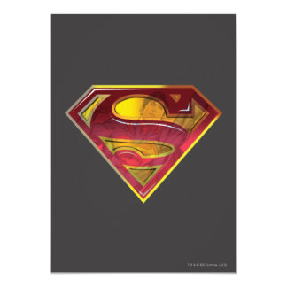 Supermann-Reflexion S-Schild 12,7 X 17,8 Cm Einladungskarte