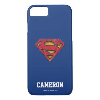 Supermann S-Schild | beunruhigtes Logo | addieren iPhone 8/7 Hülle