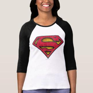 Supermann S-Schild   beunruhigtes Logo T-Shirt