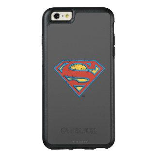 Supermann S-Schild | blaues Konturgrunge-Logo OtterBox iPhone 6/6s Plus Hülle