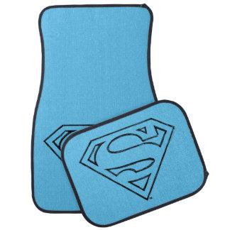Supermann S-Schild | einfaches schwarzes Automatte