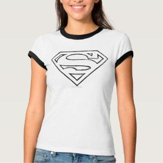 Supermann S-Schild   einfaches schwarzes T-Shirt