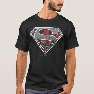 Supermann S-Schild   graues und rotes Stadt-Logo T-Shirt