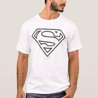 Supermann S-Schild | Grunge-Schwarz-Kontur-Logo T-Shirt