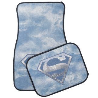 Supermann S-Schild | hellblaues Stadt-Logo Auto Fussmatte