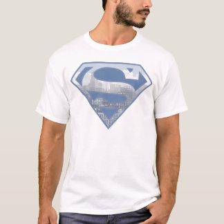 Supermann S-Schild | hellblaues Stadt-Logo T-Shirt