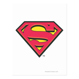 Supermann S-Schild | klassisches Logo Postkarten
