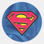 Supermann S-Schild | klassisches Logo Runder Aufkleber