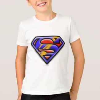 Supermann S-Schild   lila Spritzpistolen-Logo T-Shirt