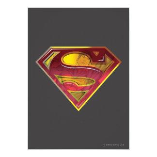 Supermann S-Schild | Reflexions-Logo 12,7 X 17,8 Cm Einladungskarte